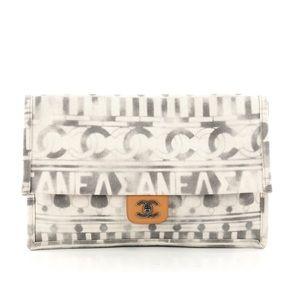 Chanel Iliad Clutch Bag Printed Toile Paris-Greece